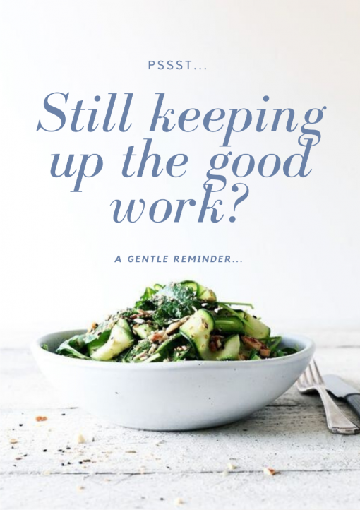 Still Keeping up the Good Work?